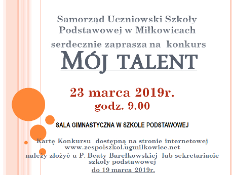 2019 moj talent plakat m